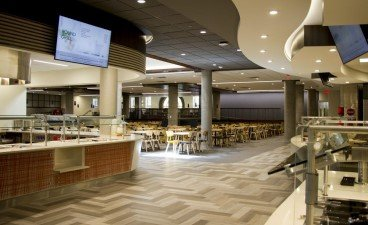 The newly renovated Pioneer dining hall.