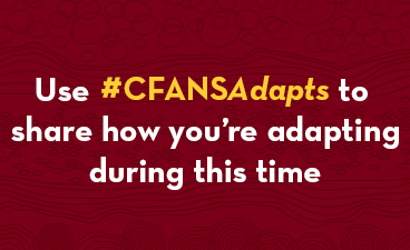 CFANS Adapts hashtag graphic.