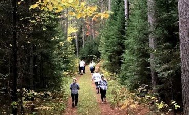 Runners in the Cloquet Forestry Center